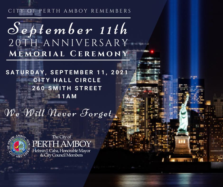 Perth Amboy 9/11 Memorial Ceremony